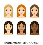 young women with different skin ... | Shutterstock .eps vector #390770557