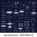 set of calligraphic elements... | Shutterstock .eps vector #390789415