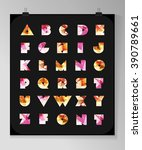 Abstract Polygonal Letter In...