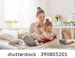 happy loving family. pretty... | Shutterstock . vector #390805201