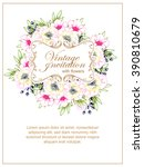 vintage delicate invitation... | Shutterstock .eps vector #390810679