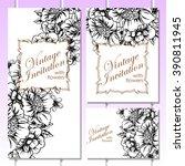 vintage delicate invitation... | Shutterstock .eps vector #390811945