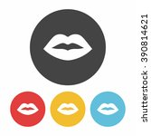mouth icon   Shutterstock .eps vector #390814621