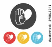 donation icon | Shutterstock .eps vector #390815341