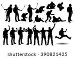 tourist2 set silhouette   Shutterstock .eps vector #390821425