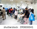 blurred people and patient... | Shutterstock . vector #390830041