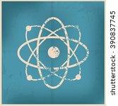 atom design on old paper...