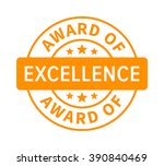 award or seal of excellence... | Shutterstock .eps vector #390840469