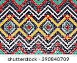 geometric ethnic oriental... | Shutterstock .eps vector #390840709