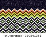 geometric ethnic oriental ikat... | Shutterstock .eps vector #390841351