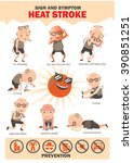 signs and symptoms info... | Shutterstock .eps vector #390851251