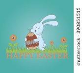 happy easter. happy easter... | Shutterstock .eps vector #390851515