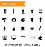 collection of flat solid filled ... | Shutterstock .eps vector #390851869