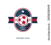 soccer football badge vector... | Shutterstock .eps vector #390858949