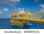 oil and gas industry offshore... | Shutterstock . vector #390859141