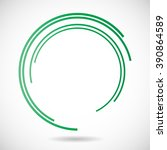lines in circle form. | Shutterstock .eps vector #390864589