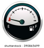 fuel gear with emphty tank...   Shutterstock .eps vector #390865699