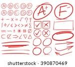 grade results  grade symbols ... | Shutterstock .eps vector #390870469