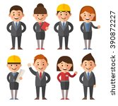 big set of business characters... | Shutterstock .eps vector #390872227
