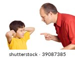 father scolding his son with... | Shutterstock . vector #39087385