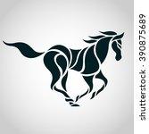 horse logo vector | Shutterstock .eps vector #390875689