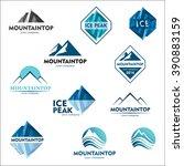mountain logo  vector design... | Shutterstock .eps vector #390883159
