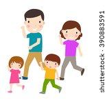 running family | Shutterstock .eps vector #390883591
