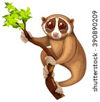 wild loris on the branch... | Shutterstock .eps vector #390890209