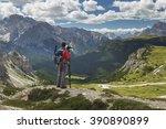 photographer in dolomite... | Shutterstock . vector #390890899