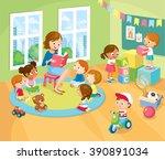 children's activity in the...   Shutterstock .eps vector #390891034