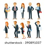 business people with documents... | Shutterstock .eps vector #390891037
