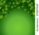 abstract st. patrick's day... | Shutterstock .eps vector #390895069