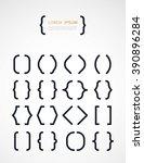 set of different  brackets   Shutterstock .eps vector #390896284