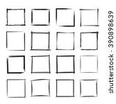 hand drawn rectangle frames ... | Shutterstock .eps vector #390898639