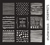 hand drawn textures and brushes.... | Shutterstock .eps vector #390899071