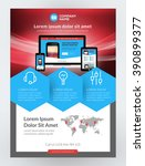 vector business flyer design... | Shutterstock .eps vector #390899377