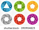 vector circle infographics set. ... | Shutterstock .eps vector #390904825