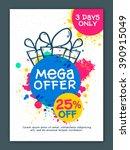 mega sale flyer  banner or... | Shutterstock .eps vector #390915049