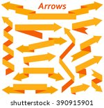 set of arrows in modern flat... | Shutterstock .eps vector #390915901