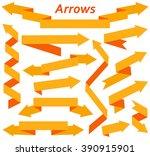 set of arrows in modern flat... | Shutterstock .eps vector #390915901