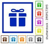 set of color square framed gift ...