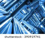 industrial zone  steel... | Shutterstock . vector #390919741