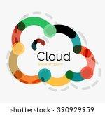 flat design cloud icon ...