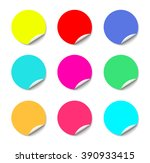 color round stickers with... | Shutterstock .eps vector #390933415