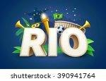 illustartion of rio 2016 games... | Shutterstock .eps vector #390941764