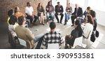 business team seminar corporate ... | Shutterstock . vector #390953581