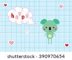 happy koala bear valentine... | Shutterstock .eps vector #390970654