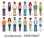 group of working people... | Shutterstock .eps vector #390970807