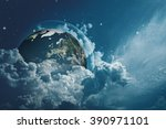 earth in the skies  abstract... | Shutterstock . vector #390971101
