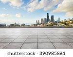 empty marble floor with... | Shutterstock . vector #390985861